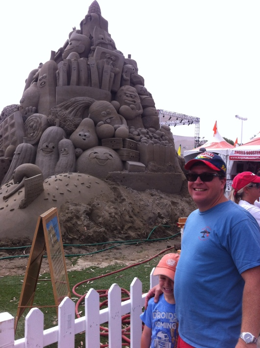 Cool sand castle. Sure it's an advertisement, but it's still pretty awesome.
