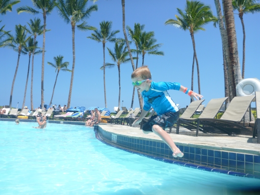 T takes the plunge on the Big Island last week at the Hilton Waikoloa Village! More on that trip soon, RMT'ers!
