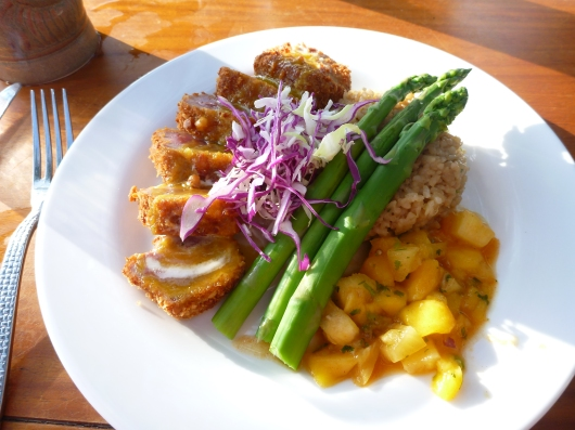 Macadamia Nut crusted Ahi at Lava Lava Beach Club.