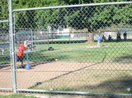 BAM! T got two great at-bats at his first T-ball game!
