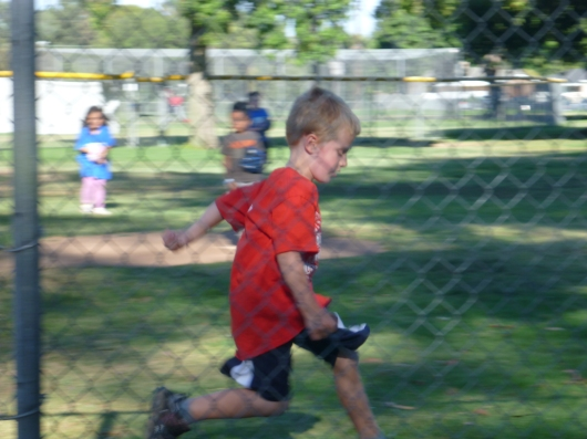 T's showing true hustle so far this T-ball season.
