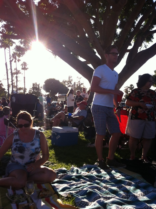 Go climb a tree and catch a free concert this summer at your local park! Here in Long Beach (CA), we have several locations to choose from, including this venue near Marine Stadium.