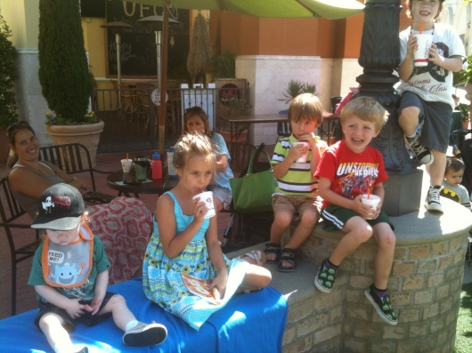 T's friends join in on the Jamba Juice fun during a Bella Terra Kids' Club show last summer (2012).