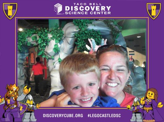 Visitors to the LEGO Castle exhibit are invited to take a selfie at a photo kiosk and post to their social media accounts free of charge. Thanks DSC!