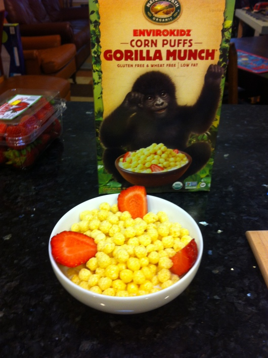 The inspiration: A box of Gorilla Munch.