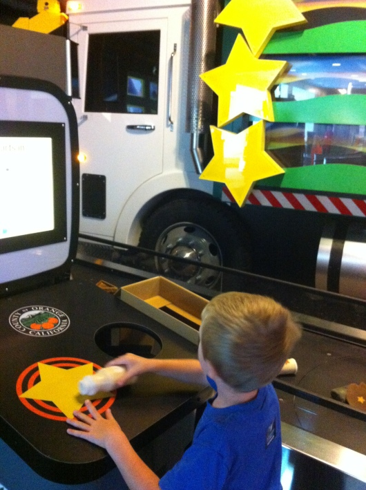 We love the EcoChallenge Race to Recycle game at the Discovery Science Center!