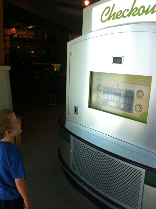 "I've posted about the ""photo trick"" before, but now the photo kiosk dispenses a token each time you take your picture!"