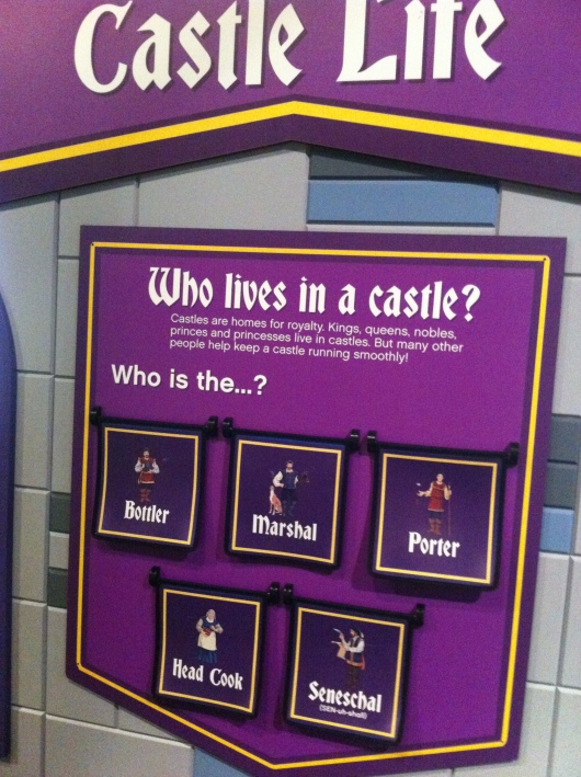 Visitors can bone up on castle facts at the LEGO Castle exhibit at the Discovery Science Center.