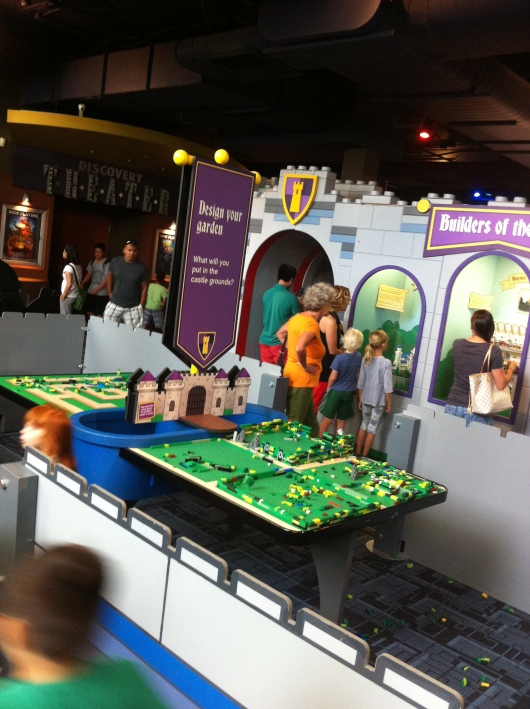 One of several LEGO tables at the Castle Adventure exhibit at DSC.