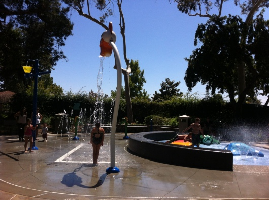 The Splash Pad at the 50-year-old Atlantis Play Center is a more recent addition to the park.