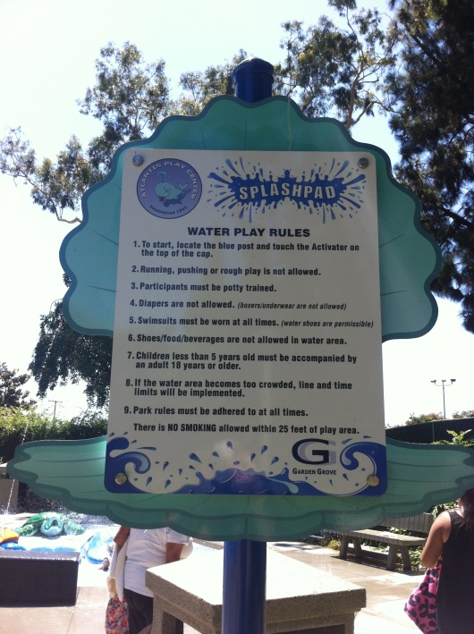 Rules for the Atlantis Splash Pad.