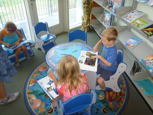 The library at the Cabrillo Marine Aquarium houses many books for all-ages (and languages) focused around marine science and biology. Visitors can also come here to pick up a free poster!