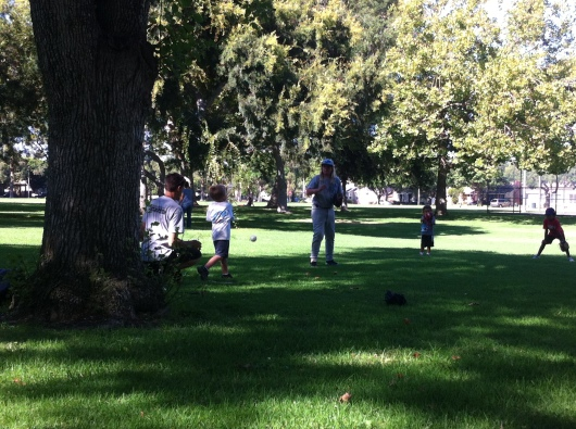 The kids all started to practice hit-pitch at the second-to-final practice. It actually helps the kids develop better hand-eye coordination off of the tee as well.