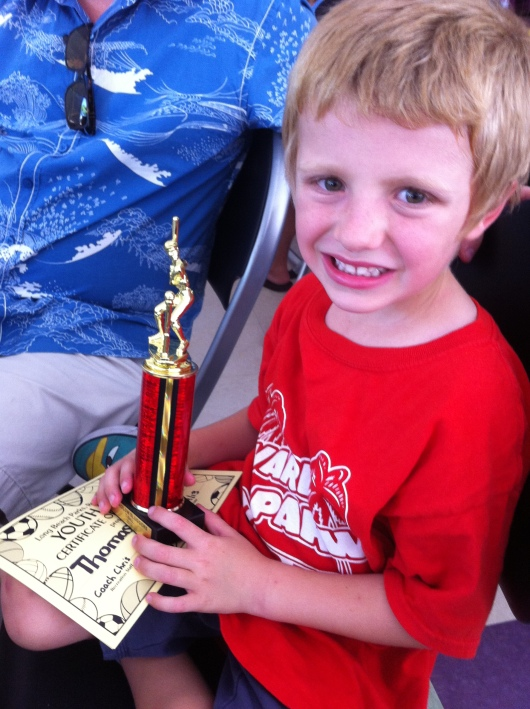 T's first trophy!