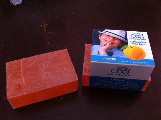 SoCoolKids Orange Glycerin Soap.