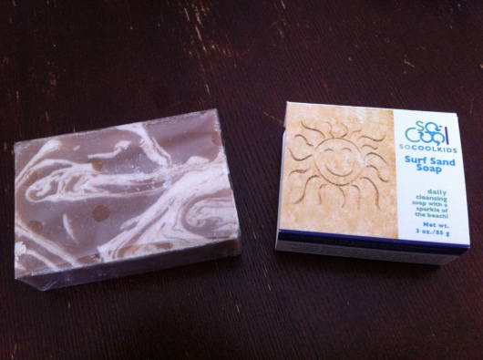 The swirls of sand-like exfoliants in SoCoolKids' Surf Sand Soap definitely lives up to its name!