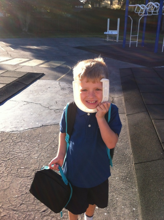 T found a horseshoe on his way into his first day of Kindergarten this morning. Good luck this school year, RMT'ers!