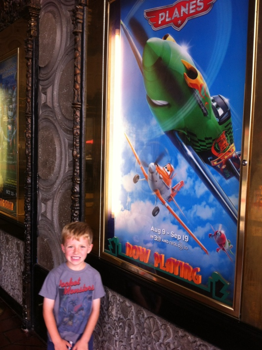 T's just before seeing Planes at the El Capitan Theatre!