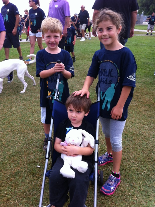 T and his friends before setting off for the 2nd annual iWalk... for Kids.