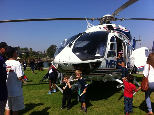 The Mercy Air 'copter landed at this year's iWalk... for Kids, and of course we stopped for our photo opps!