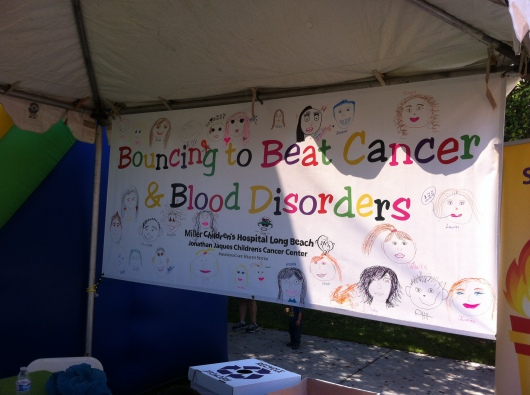 One of the team booths at the 2nd Annual iWalk... for Kids.
