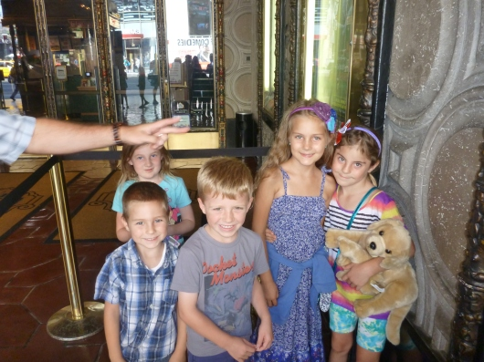 Just a few extra shots of the kids at the El Capitan Theatre.