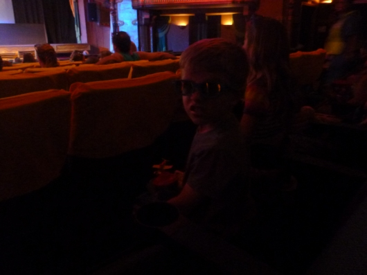 T getting ready for a 3D showing of Planes at the El Capitan Theatre!