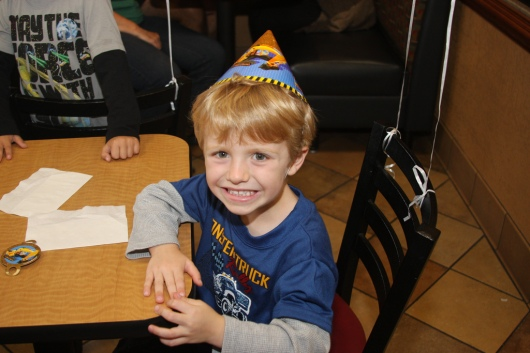 T on his 4th birthday!