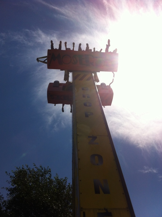 T up on the Drop Zone at Adventure City.