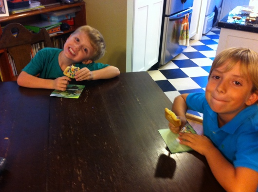 Cakesicles taste good no matter what they look like, according to these two boys!