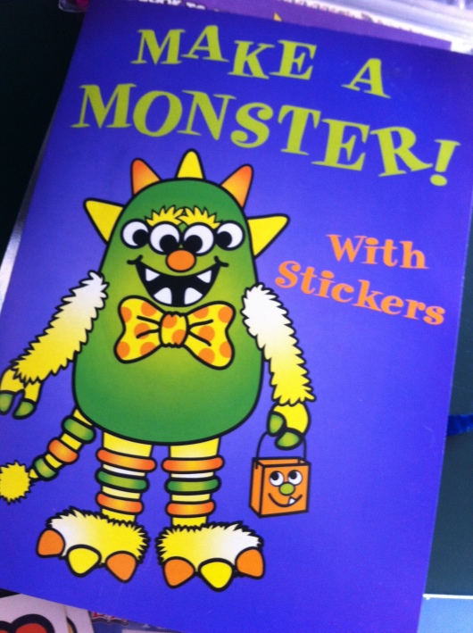 After T finished making the monsters from this activity folder, he had plenty of extra face and body parts leftover to use with other arts and crafts projects!