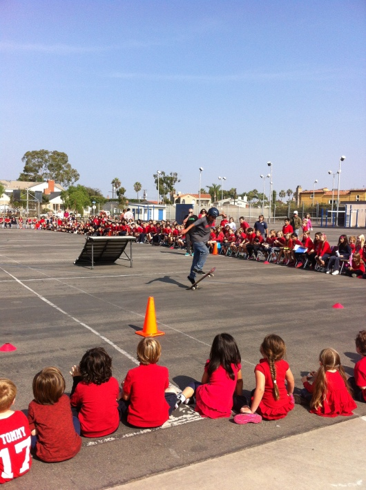 Carlos did all 10 kick-flips! Awesome!