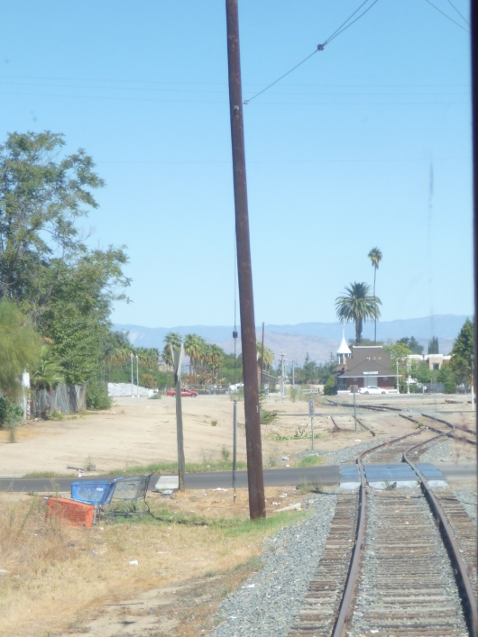 It's the goal of Orange Empire Railway Museum to restore the train station you see there down the line. Part of Metrolink's long-term plans is to extend their rail service through this area, which could mean a potential link up with the museum's line at that station.