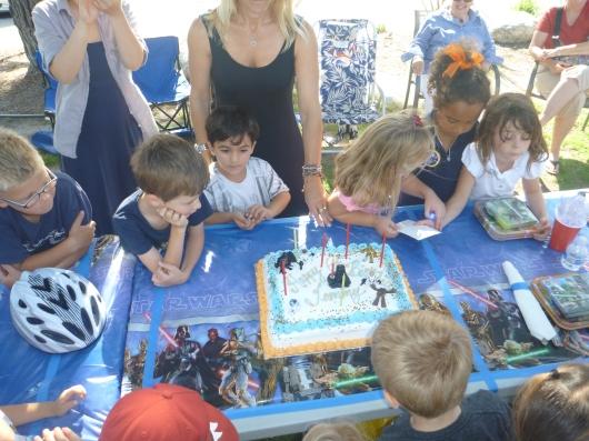"Happy ""Star Wars"" 6th birthday, T!"