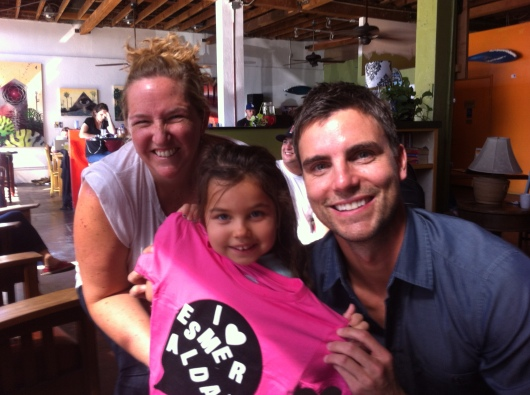 Thanks again to H for our fun Shout Out! play date at Viento y Agua with T-shirt creator Colin Egglesfield!