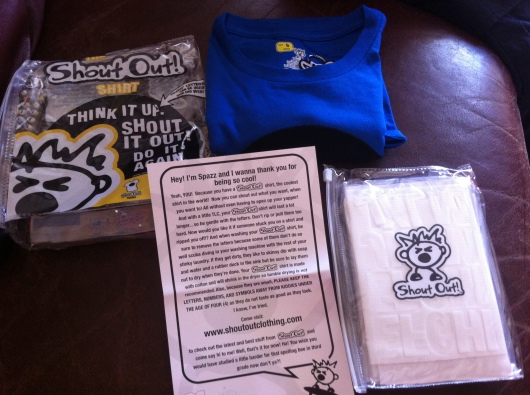 One of the Shout Out! Clothing kits for kids.