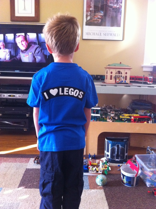 Yes, we know T... some boys love the ladies, but we know you love the LEGOs.
