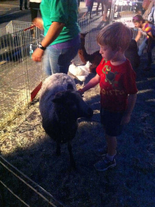T loves the petting zoos with the hair brushes. So do I, T, so do I.