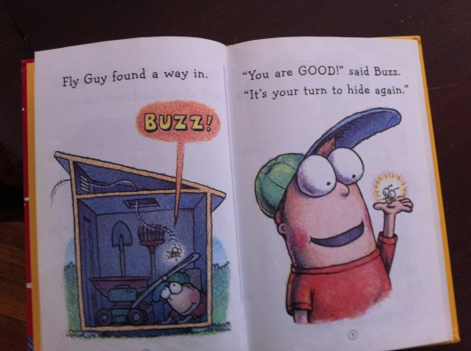 "Inside page peek of ""I Spy Fly Guy."""