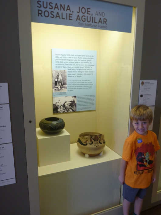 T really enjoyed looking for the pictographs and other artwork on the ceramics at the Southwest Museum.