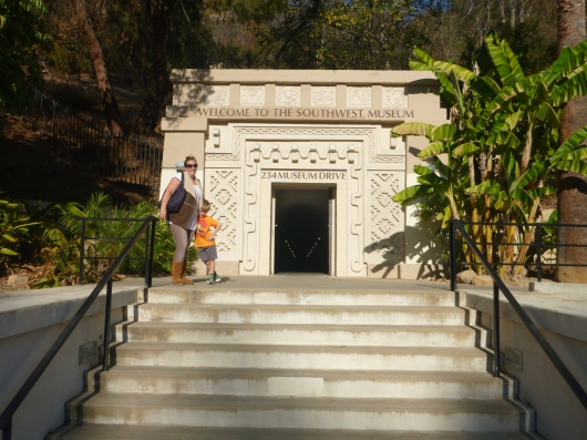Lower entrance for the Southwest Museum of the American Indian. The Gold Line is just steps from here.