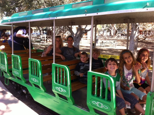 A few of our wonderful group enjoying a gorgeous day out at Irvine Park Railroad!
