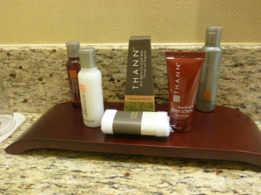Bathroom amenities. Yummy!