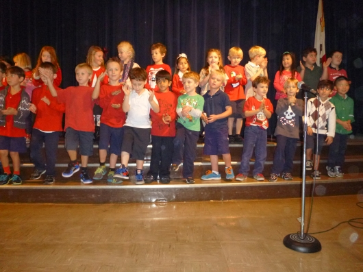 T's class in the Holiday Sing 2013.