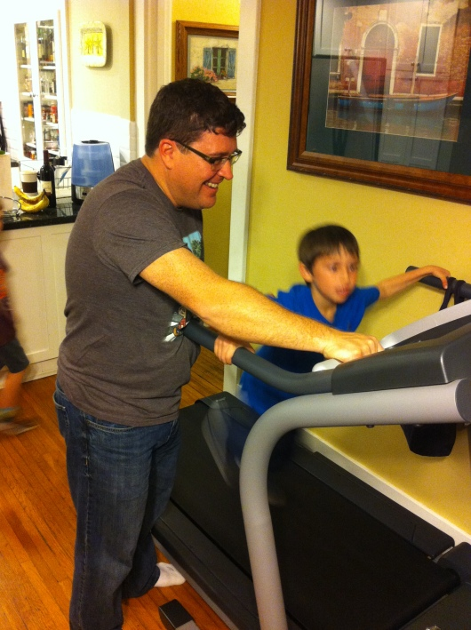 E loved running on our treadmill. I wish I could get as excited about it myself.