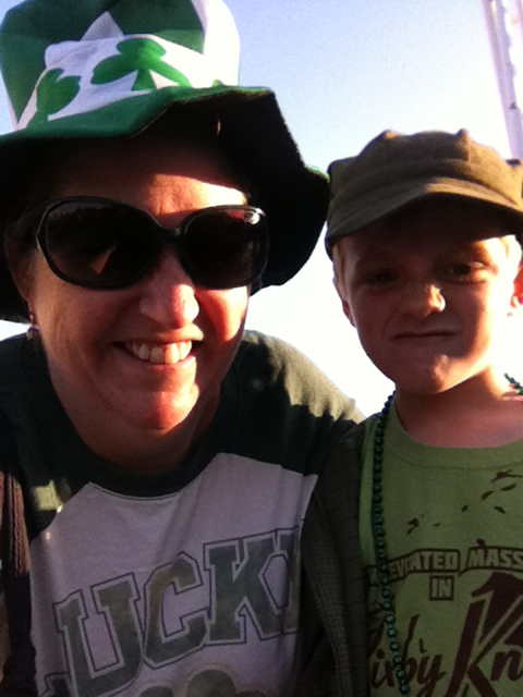 "A selfie with my own ""Tommy Boy."" Happy St. Patrick's Day!"