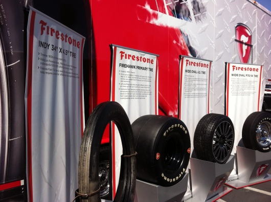 Mini tire museum on display at the Firestone Complete Auto Care Center today until 4 p.m.!