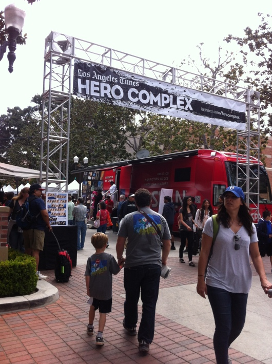 "Heading over toward the ""Hero Complex"" at the LA Times Festival of Books."