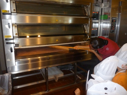 Fidelvia (Panera Lakewood GM) cleans the ovens before the kids started baking!