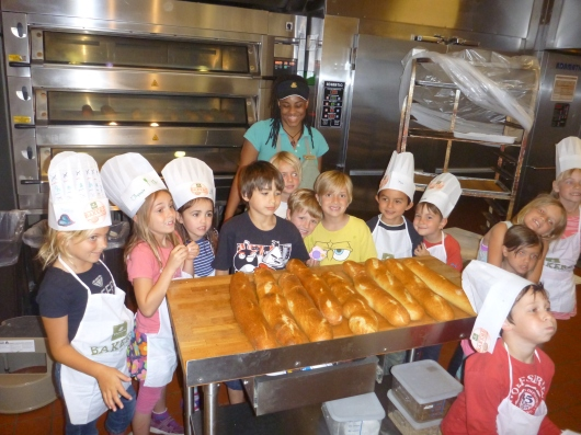 The kids were so proud of what they'd made during their Panera Bread's Bakers-In-Training class.